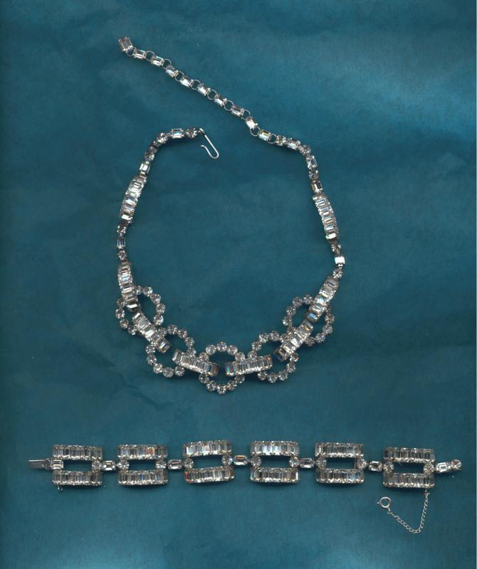 Christian Dior Rhinestone Necklace/Bracelet