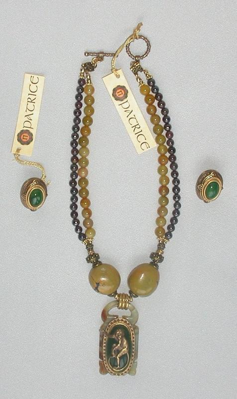 PATRICE MONKEY NECKLACE AND EARRINGS