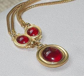 YVES SAN LAURANT REVERSIBLE NECKLACE