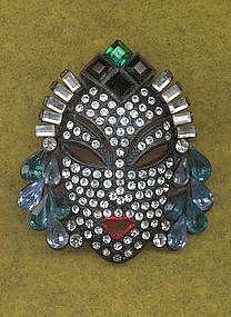 Deco Mask Brooch