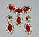 deLILLO BROOCH AND EARRINGS SET