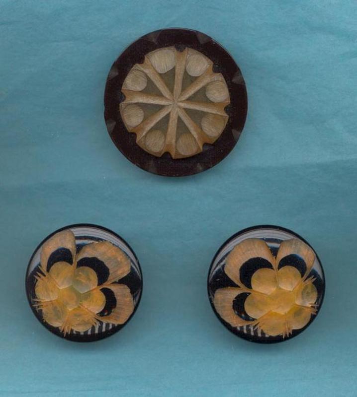 Bakelite Clip, Bakelite Earrings