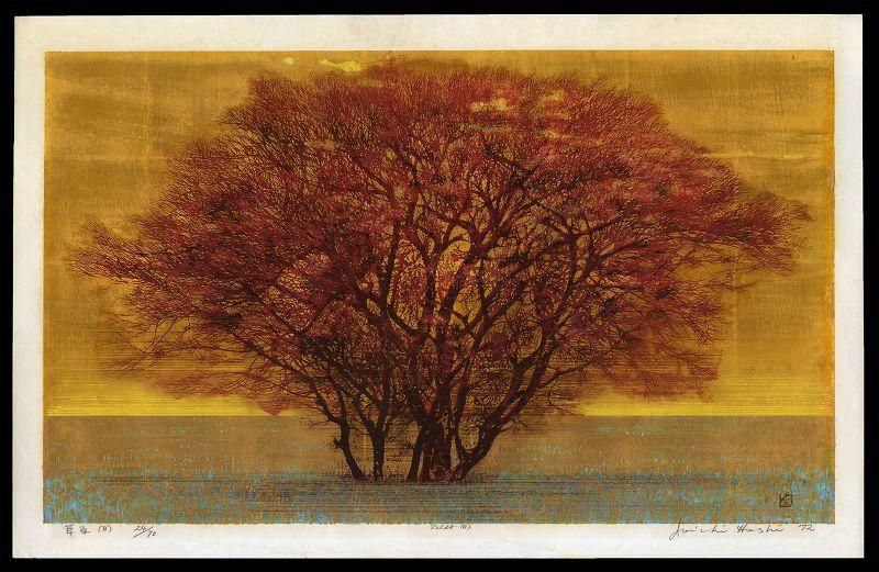 Original Hoshi Print - Green Field (B) Large (Veldt)