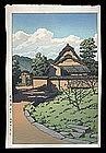 Hasui Woodblock - Horyuji Temple, Nara