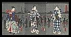 Toyokuni III Triptych