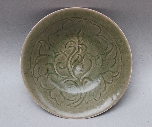 A RARE SONG DYNASTY YAOZHOU CELADON DISH FOUND AT INDONESIA