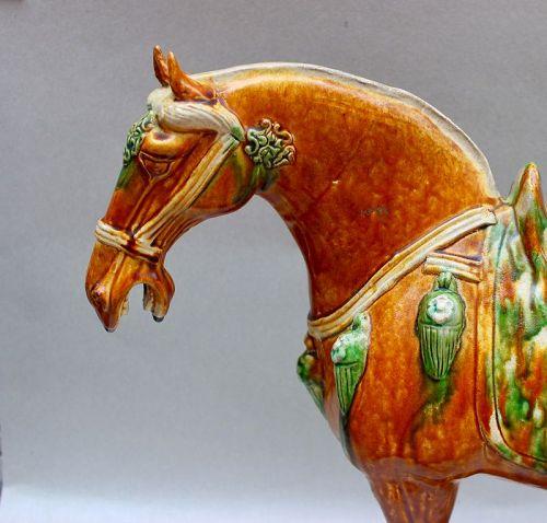 EXTREMELY RARE TANG DYNASTY SANCAI HORSE