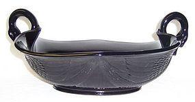 Fenton Ebony 11 1/2 Inch SWAN Handled BOWL