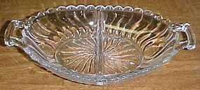 Fostoria Crystal COLONY 9 Inch 2 Part Handled RELISH