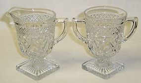 Imperial Crystal CAPE COD 4 1/2 Inch CREAMER and SUGAR