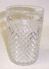 Hocking Crystal MISS AMERICA 4 1/2 Flat WATER TUMBLER