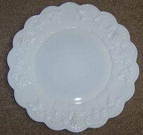 Westmoreland Milk Glass PANELED GRAPE 10.5 DINNER PLATE