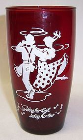 Anchor Hocking Fire King Royal Ruby SWING HIGH TUMBLER