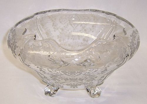 Cambridge Crystal DIANE No. 3400/135 CUPPED 9 1/4 In Four Footed BOWL