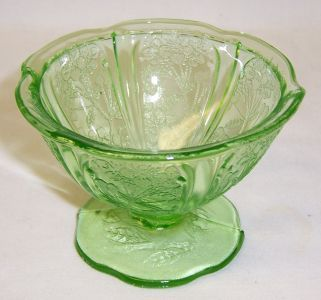 Jeannette Green CHERRY BLOSSOM 2 3/4 Inch FOOTED SHERBET