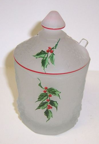 Westmoreland PANELED GRAPE Marmalade, Cut Out Lid, Ladle, HP HOLLY