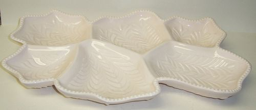 Jeannette SHELL PINK 6 Part VENETIAN SERVING TRAY