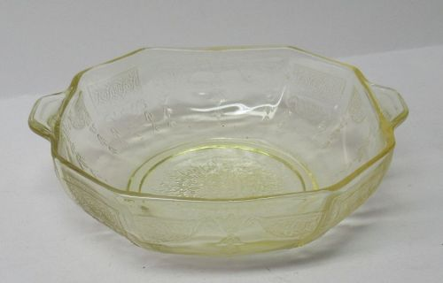 Hocking Yellow Topaz PRINCESS 5 1/2 In Tab Handled CEREAL BOWL
