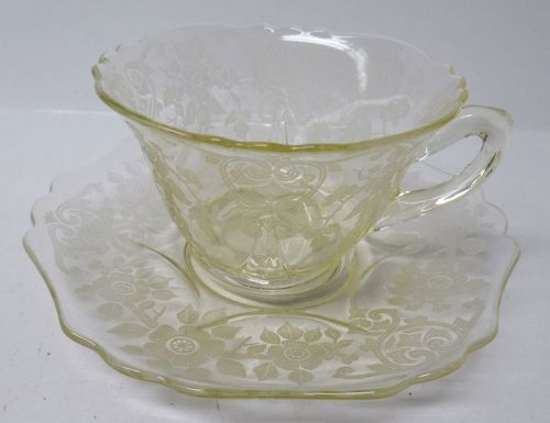 Cambridge Yellow APPLE BLOSSOM Tea or Coffee CUP and SAUCER