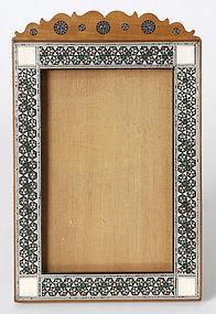 Anglo Indian Sandalwood Photo Frame with Sadeli.