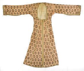 Rare Antique Ottoman Woman's Silk Entari, 18th/19th C.