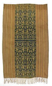 Old Indonesian Woven Man's Cloth or Beti with Ikat, West Timor.