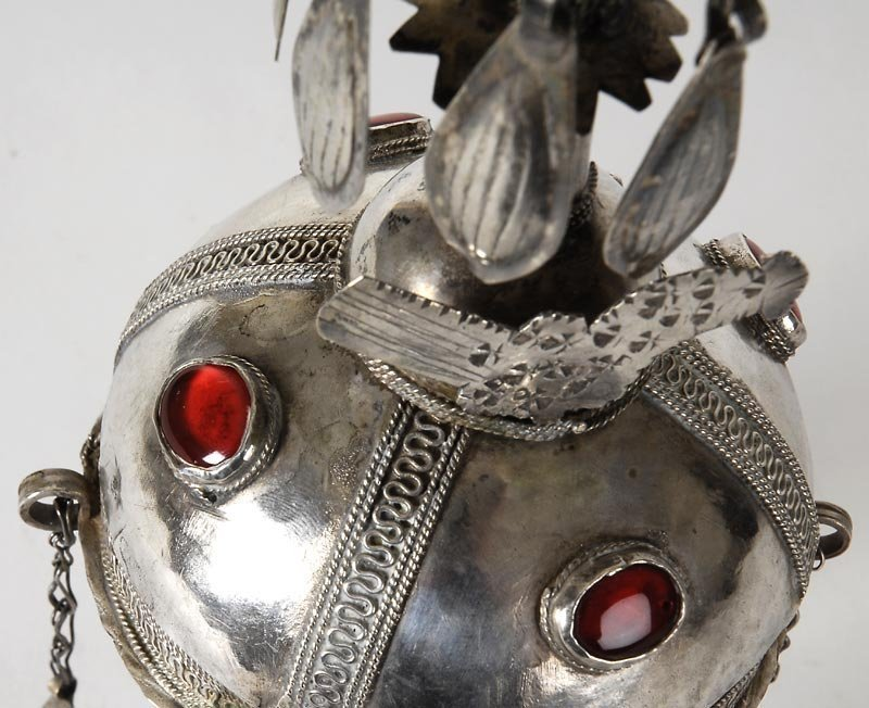 "Turkoman Silver Domed Final ""Gupba"" Cap Ornament."