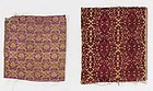 Two Persian Silk Textile Fragments, 18th/19th C.
