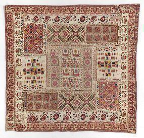 Ottoman Empire Composite Embroidery Panel, c. 1900