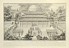 Etching by Helman - Ceremony for Ancestors of  Emperor