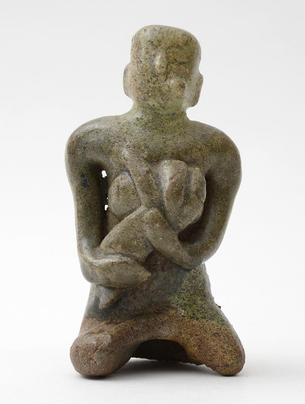 "Thai Si Satchanalai ""Mother & Child"" Ceramic Figure, #2"