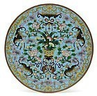 Chinese Round Cloisonne Enamel Plaque #2, Late Qing