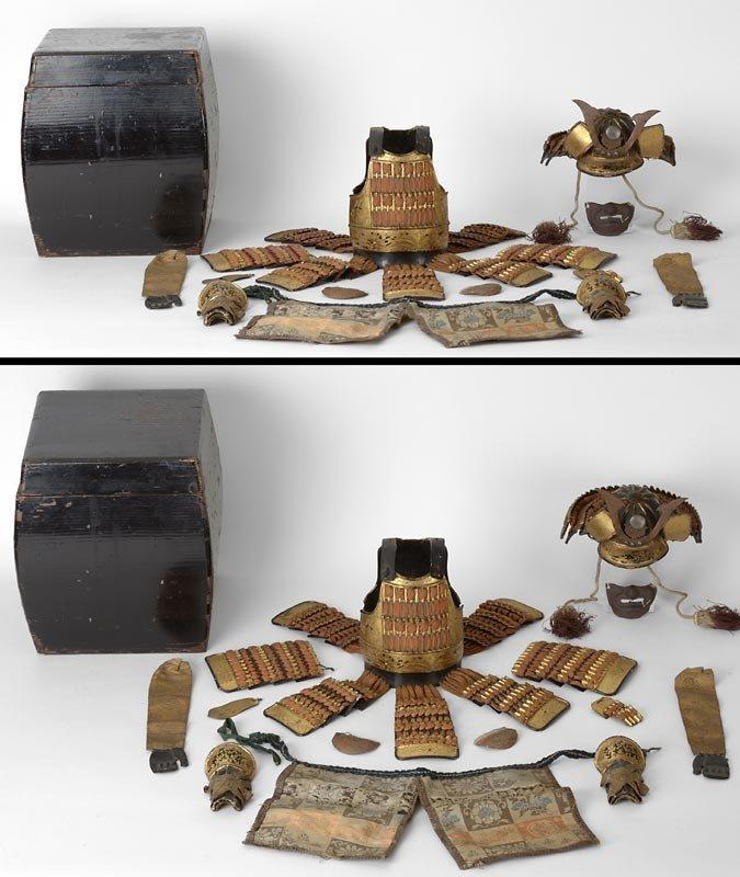 Japanese Doll's Armor Set for Gogatsu Ningyo, 19th C.