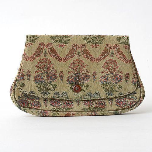 "Vintage Art Deco Silk Brocade Evening Bag by ""Kurzman - New York""."
