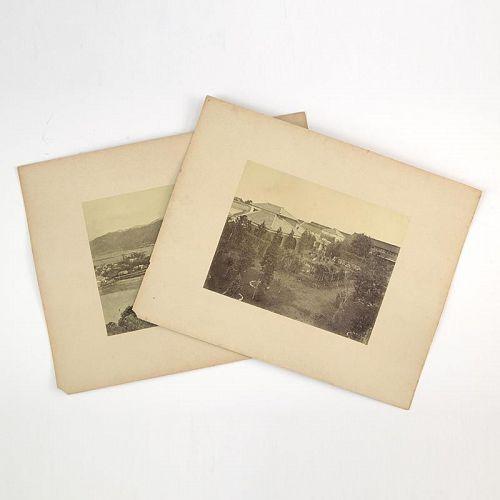 Two Albumen Photographic Prints of Japan,  1870/80.