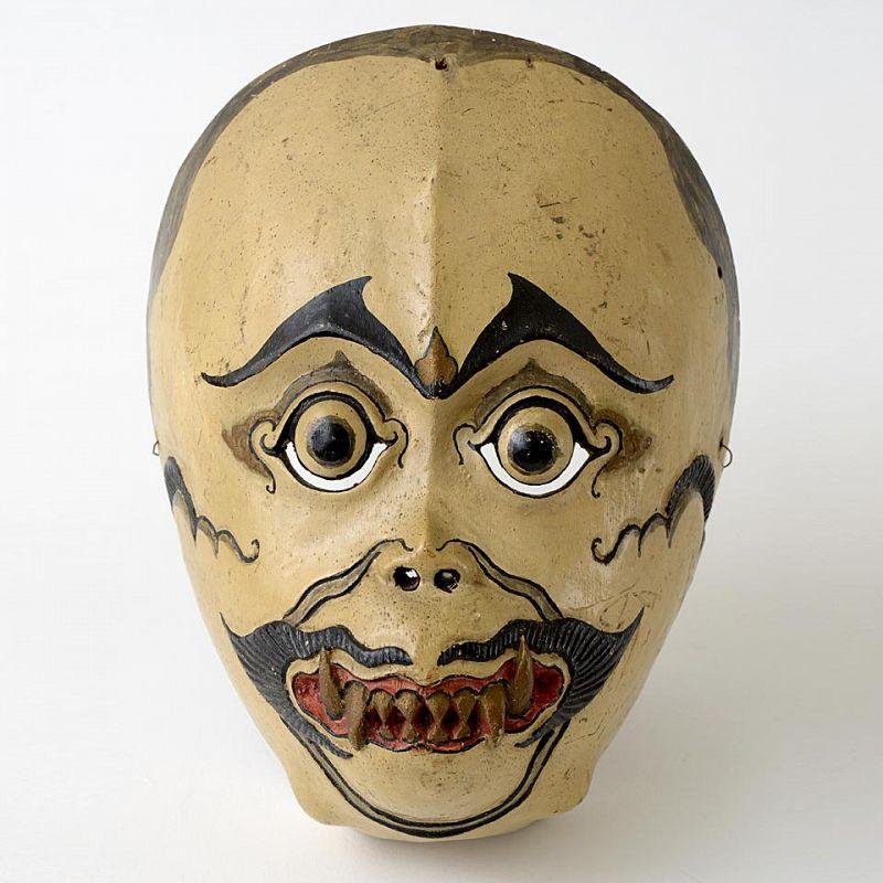 Javanese Wooden Hanuman Wayang Topeng Mask, c. 1920.