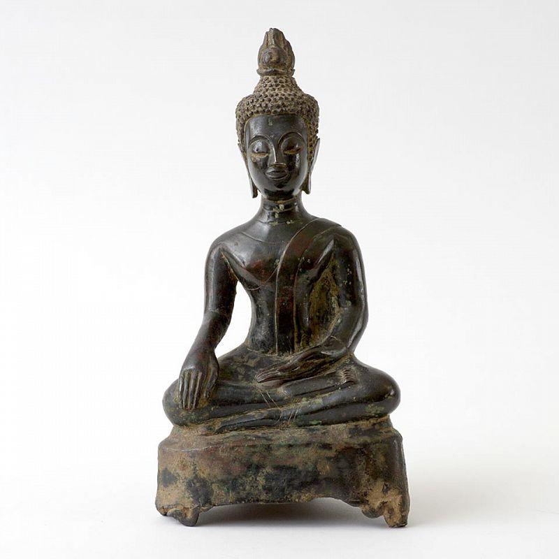 A Bronze Figure of Buddha Shakyamuni, Laos 17th/18th C.