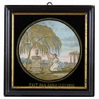 Fine Antique Silk Needlework Embroidery Memorial Picture, 1826.