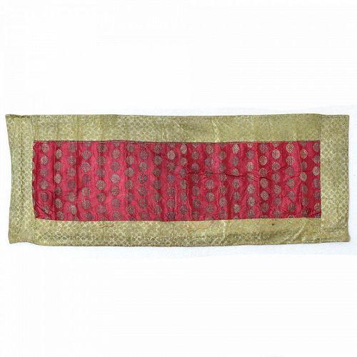 An Antique Indo Persian Silk Brocade Cover.