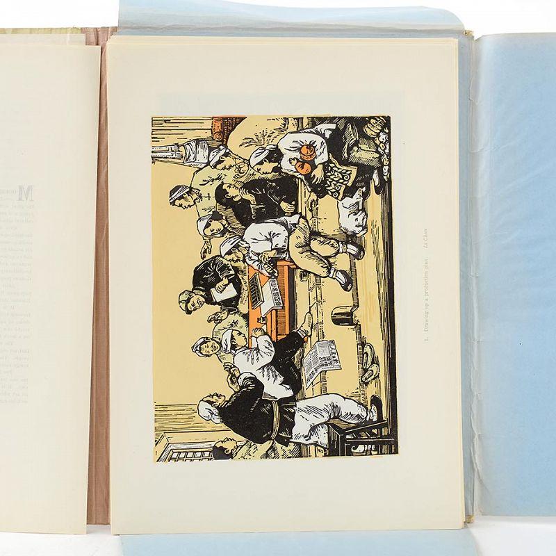 """Woodcuts of New China"" Folio with 40 Lithograph Plates, Peking 1956."