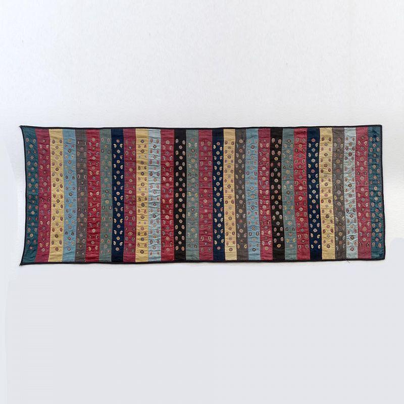 Fine Antique Zoroastrian Silk Embroidery Textile Panel, Persia / India