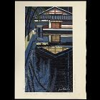 "Junichiro Sekino - Limited Japanese Woodblock Print ""Pond of Night"""