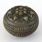 Sumatran Bronze Betel Lime Box, Malay Archipelago c. 1900