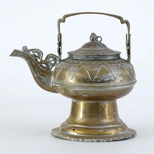 Antique Malay - Minangkabau Brass Bronze Water Kendi, c. 1920.