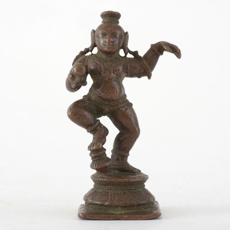 Antique Indian Miniature Bronze Figurine of Balakrishna, 18th/19th C.
