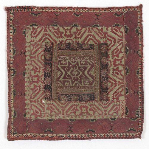 Antique Greek Island Composite Embroidery Textile Panel, 19th C.