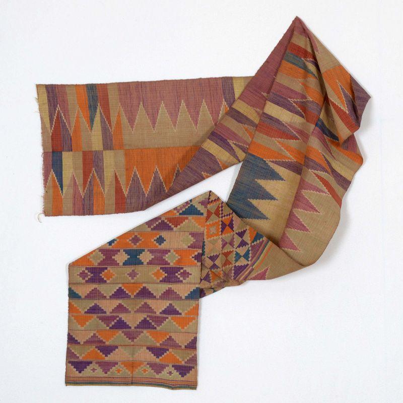 A Tausug Tapestry Silk Sash Fragment, Sulu Philippines No. 2