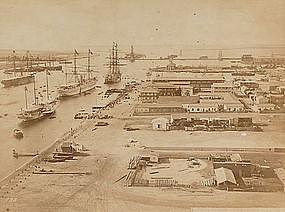 Original Albumen Photograph: Egypt, Port Said, c. 1880.