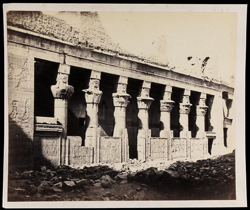 Early Albumen Photograph: Egypt, Philae. Pre 1880.
