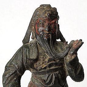 Chinese Ming Bronze Statue of Guandi, c. 17th C.